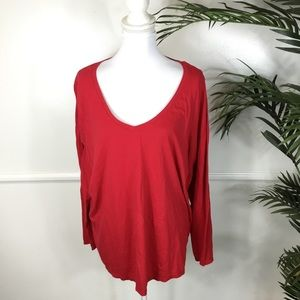 Lane Bryant Red Long Sleeve Top Womens Plus 22/24